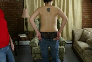 Real Spankings - Jessie's Bare Breast Strapping - image 8