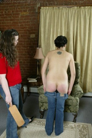 Real Spankings - Jessie's Bare Breast Strapping - image 11