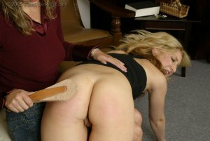 Real Spankings - Sarah Is Spanked Otk For Taking The Car - Part 1 - image 1
