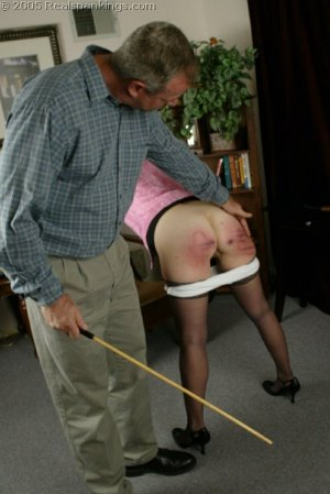 Real Spankings - Mr. Daniels Spanks Ms. Burns Pt. 2 - image 3
