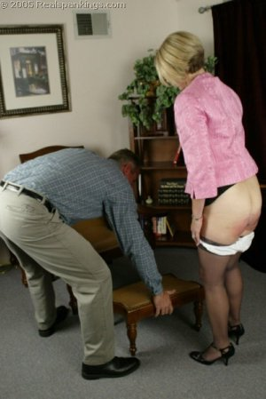Real Spankings - Mr. Daniels Spanks Ms. Burns Pt. 2 - image 6