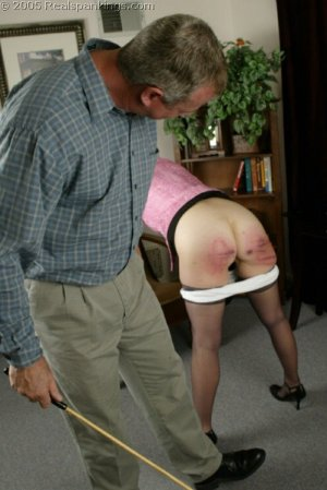 Real Spankings - Mr. Daniels Spanks Ms. Burns Pt. 2 - image 1