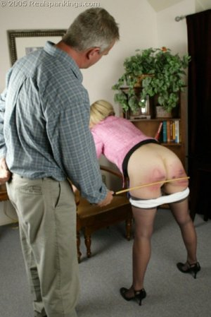 Real Spankings - Mr. Daniels Spanks Ms. Burns Pt. 2 - image 4