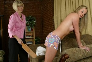 Real Spankings - Riley's Bare Breasted Strapping - image 9