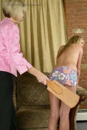 Real Spankings - Riley's Bare Breasted Strapping - image 5