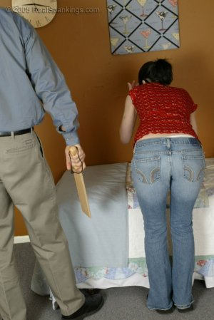 Real Spankings - Kailee Is Paddled For Misbehaving - image 1
