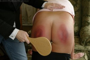 Real Spankings - Riley Is Paddled For Sassy Behavior - image 5
