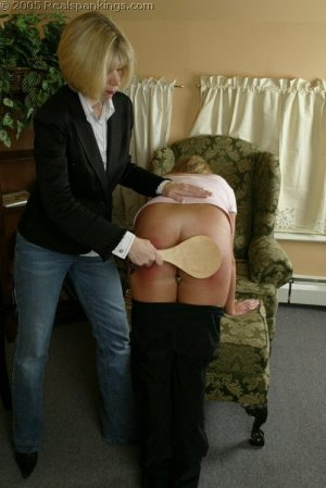 Real Spankings - Riley Is Paddled For Sassy Behavior - image 9
