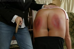 Real Spankings - Riley Is Paddled For Sassy Behavior - image 7
