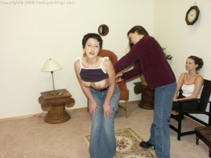 Real Spankings - Bare Breasted Teens I - image 1