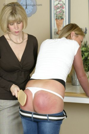 Real Spankings - Riley Is Paddled In The Kitchen - image 16