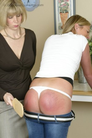 Real Spankings - Riley Is Paddled In The Kitchen - image 3
