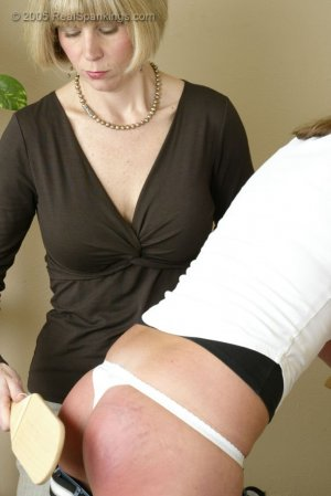 Real Spankings - Riley Is Paddled In The Kitchen - image 12