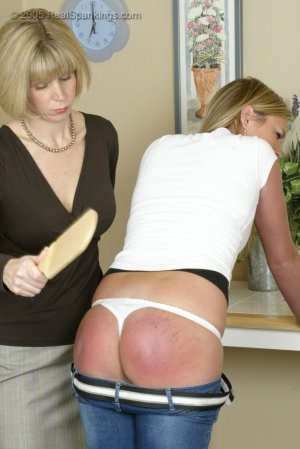 Real Spankings - Riley Is Paddled In The Kitchen - image 7
