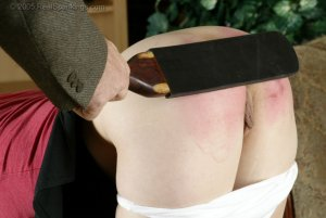 Real Spankings - Claire Is Paddled On All Fours - image 1