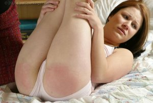 Real Spankings - Claire's Hand Spanking In The Diaper Position - image 16