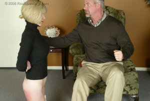 Real Spankings - Elizabeth Is Punished In The Living Room - Part 2 - image 1