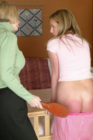 Real Spankings - Riley Is Punished For Arguing With Ms. Burns - image 11