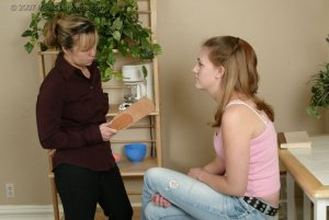 Real Spankings - Monica Is Strapped For Not Finishing Her Chores - image 10