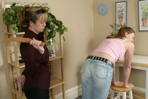 Real Spankings - Monica Is Strapped For Not Finishing Her Chores - image 4