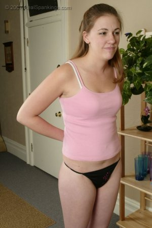 Real Spankings - Monica Is Strapped For Not Finishing Her Chores - image 5