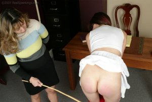 Real Spankings - Brandi's Cheerleading Caning - image 9