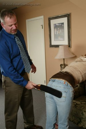 Real Spankings - Brooke Is Paddled For Skipping School - image 12