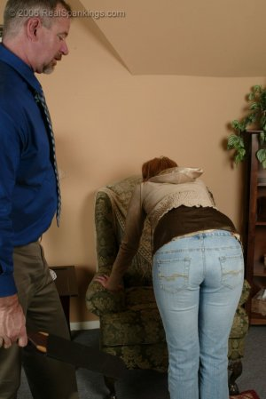 Real Spankings - Brooke Is Paddled For Skipping School - image 6