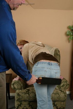 Real Spankings - Brooke Is Paddled For Skipping School - image 3