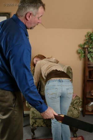 Real Spankings - Brooke Is Paddled For Skipping School - image 8