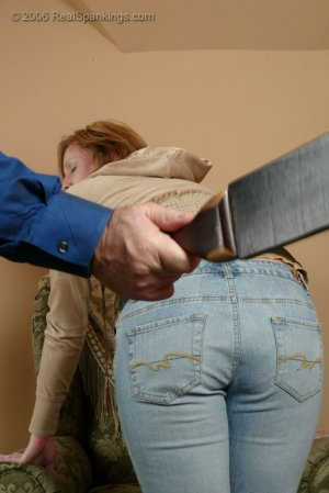 Real Spankings - Brooke Is Paddled For Skipping School - image 5