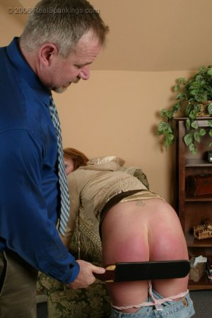 Real Spankings - Brooke Is Paddled For Skipping School - image 11