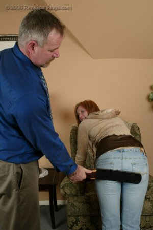 Real Spankings - Brooke Is Paddled For Skipping School - image 7