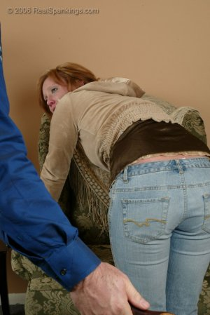 Real Spankings - Brooke Is Paddled For Skipping School - image 9