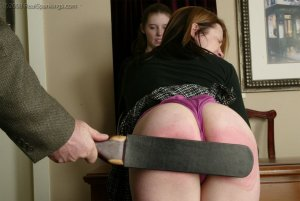 Real Spankings - Bailey And Claire Earn A Spanking - image 3