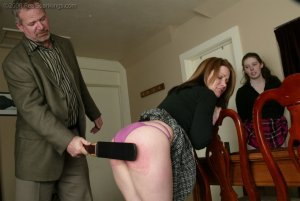 Real Spankings - Bailey And Claire Earn A Spanking - image 6