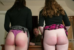 Real Spankings - Bailey And Claire Earn A Spanking - image 13