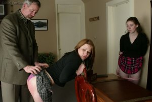 Real Spankings - Bailey And Claire Earn A Spanking - image 8