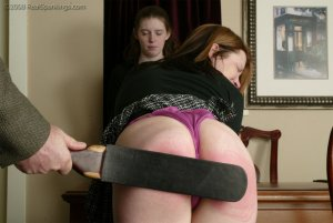 Real Spankings - Bailey And Claire Earn A Spanking - image 7