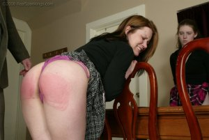 Real Spankings - Bailey And Claire Earn A Spanking - image 17