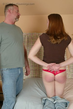 Real Spankings - Monica Is Caught Leaving School - image 1