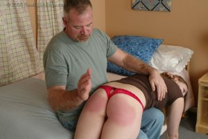 Real Spankings - Monica Is Caught Leaving School - image 6