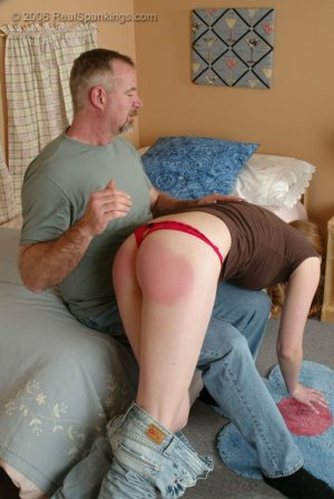 Real Spankings - Monica Is Caught Leaving School - image 3