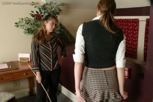 Real Spankings - Jackie Caned By Ms. Baker - image 6