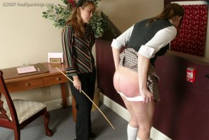 Real Spankings - Jackie Caned By Ms. Baker - image 1