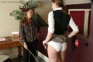 Real Spankings - Jackie Caned By Ms. Baker - image 5
