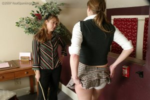 Real Spankings - Jackie Caned By Ms. Baker - image 15