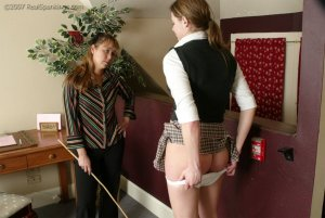 Real Spankings - Jackie Caned By Ms. Baker - image 14
