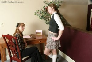 Real Spankings - Jackie Caned By Ms. Baker - image 18
