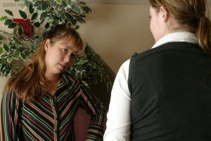 Real Spankings - Jackie Caned By Ms. Baker - image 12